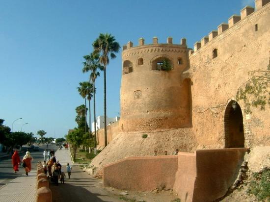 Wonderfull walls of the old medina Azemmour