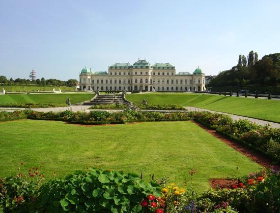 Wien, Østerrike: Façade jardin