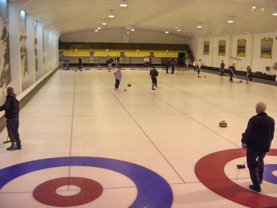 North West Castle Hotel: The curling rink in the hotel