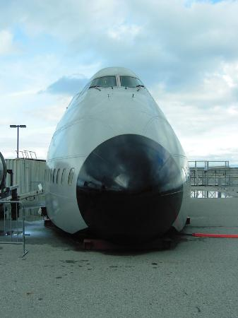 San Carlos, CA: Nose of a Boeing 747