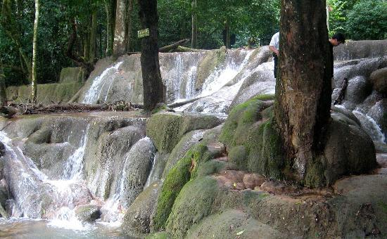 Luang Prabang, Laos: cascading pools (dry season)
