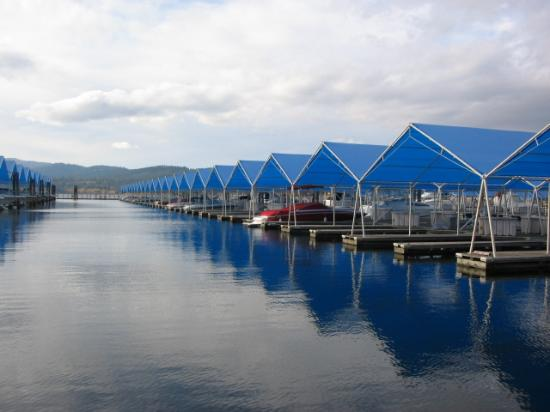 The Coeur d'Alene Resort: The Marina from the Floating Boardwalk