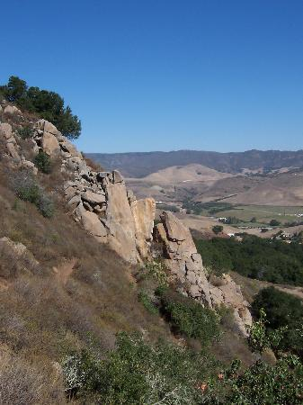 San Luis Obispo, Kalifornia: Half way up, looking north