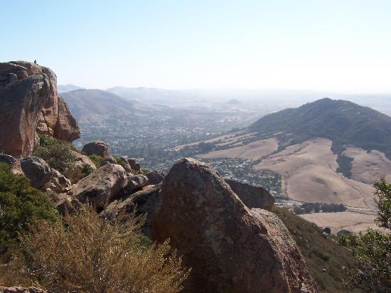 San Luis Obispo, CA: Looking south over SLO