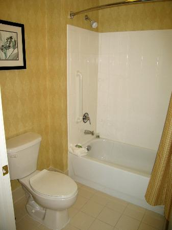 Residence Inn Denver Airport: Suite 306 bathroom combo tub and shower
