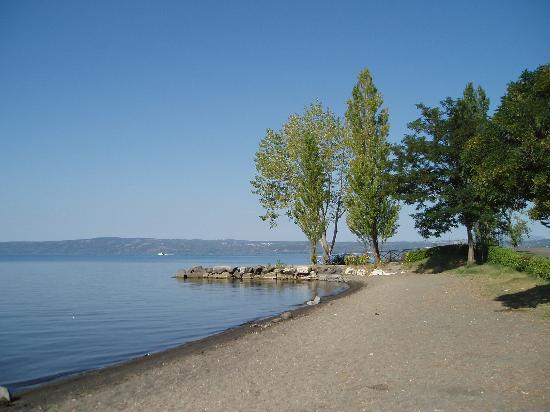 Hotel Le Naiadi: View of lake from hotel