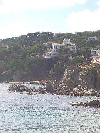 Hotel Sant Roc: View of the Sant Roc from the north end of Calella.