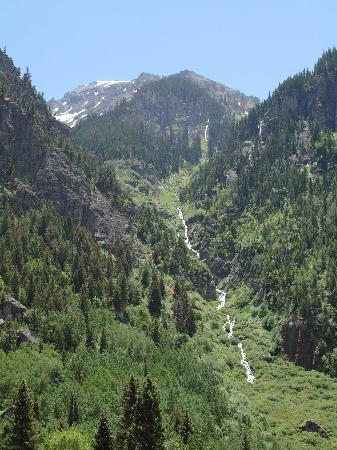 Ouray, Kolorado: Mountains and waterfalls