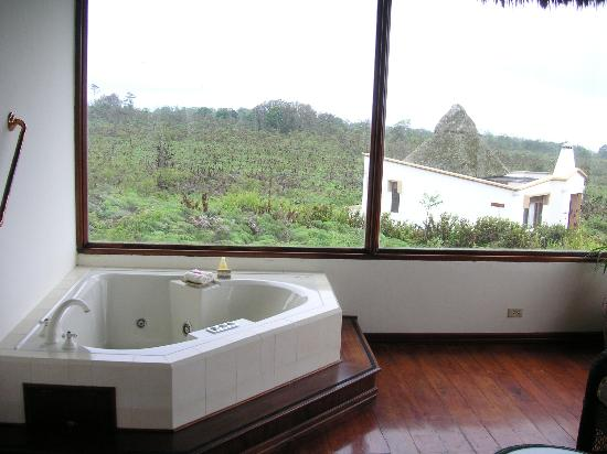 Royal Palm Hotel Galapagos: Great views - even from the tub