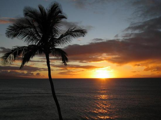 Lahaina, Havai: Sunset at Lahania
