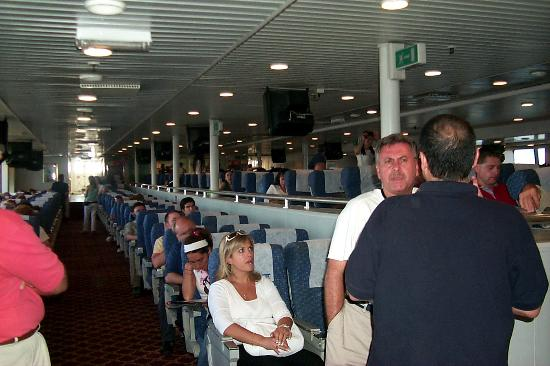 Colonia del Sacramento, Uruguay: Photo that shows the middle level of seats in the ferry