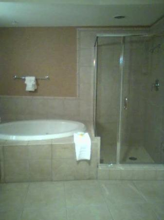 Gold Country Casino & Hotel: Whirlpool tub and shower