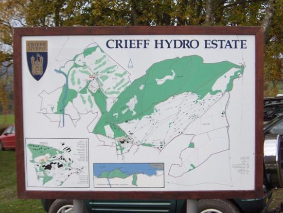 Crieff Hydro Hotel and Resort: Map of the Crieff Hydro Estate