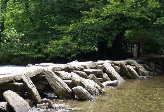 Exmoor Nationalpark, UK: tarr steps bridge