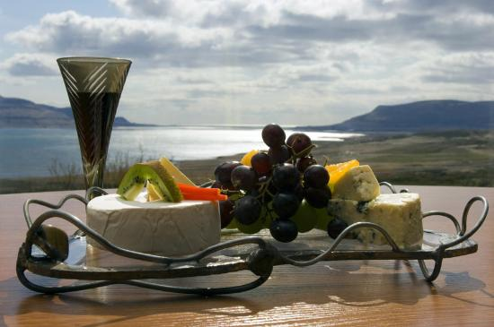 Hotel Glymur: Some cheese and wine perhaps?