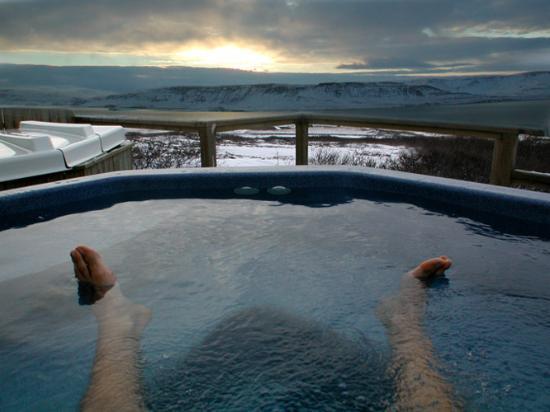 Hotel Glymur: Did anyone say hot tubs?
