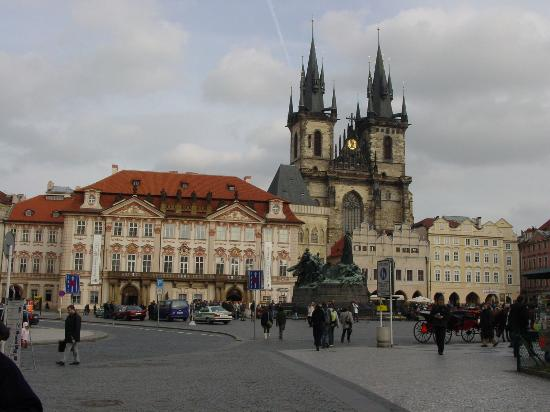 Prague, Czech Republic: Týn Church in Old Town Square.