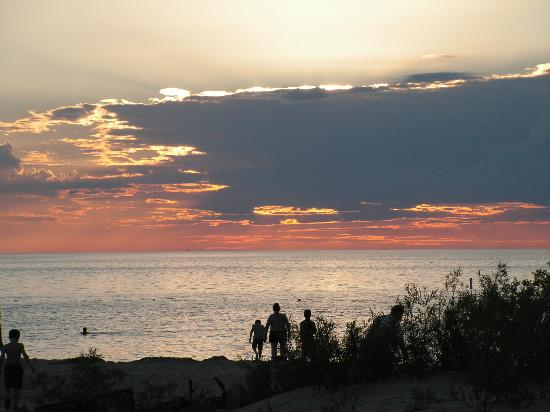 Manitoba, Kanada: Lake Winnipeg in the evening