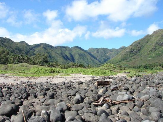 Molokai, HI: Looking down the valley from the cove