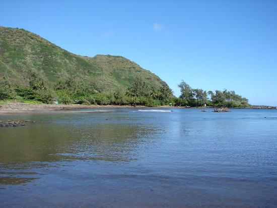 Molokai, Hawái: View across the cove (end of public access)