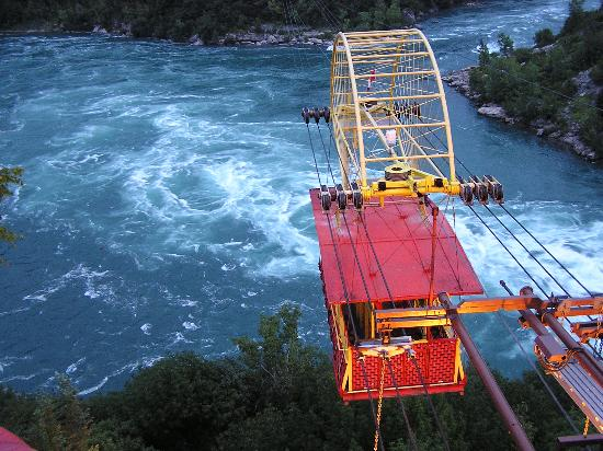 Niagarafallene, Canada: Spanish Aerocar over the whirlpool in the gorge