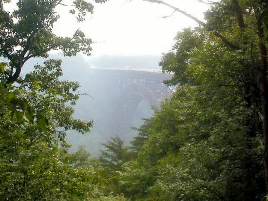 New River Gorge Bridge: Beautiful early morning view of Bridge