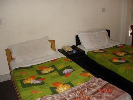 Annapurna Guest House: Our Beds (Used last night)