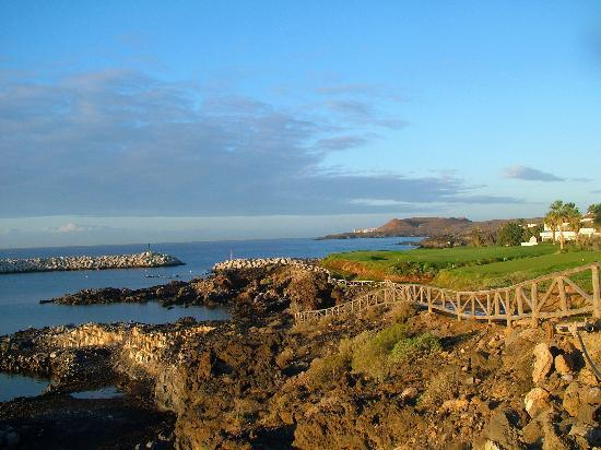 Amarilla Golf and Country Club: View from the marina towards Costa Silencio.