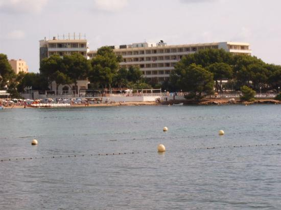Intertur Hotel Miami Ibiza: View of Hotel from across the bay