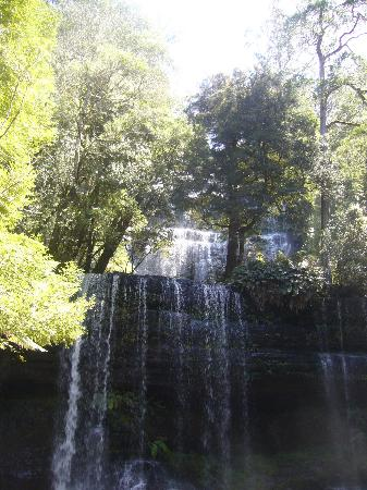 Woodbridge on the Derwent: waterfall at Mt Field National Park