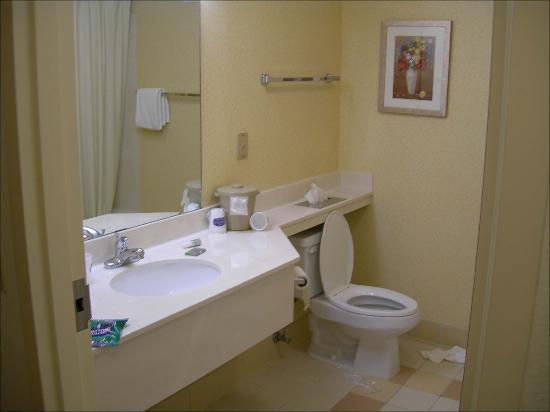 Fairfield Inn & Suites Christiansburg: Decent sized bathroom that was clean, no curved shower curtain :(