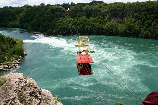 Niagarafallene, Canada: The whirlpool aerocar.