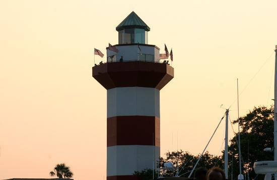 Hilton Head, Carolina Selatan: Lighthouse at Harbor Town.