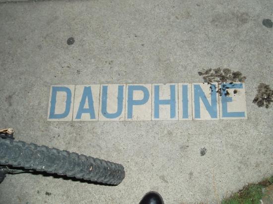 Vaughan's Lounge: Dauphine street sign