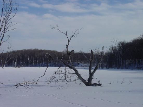 Ottertail, MN: Driving around the park in the Winter