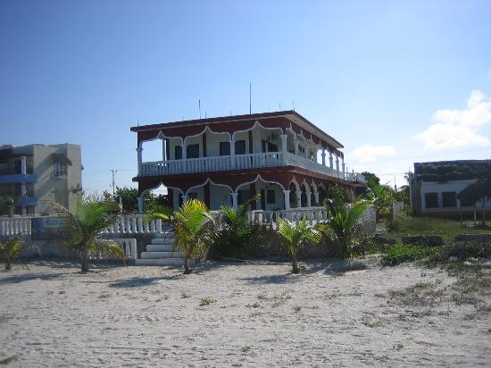 Ecohotel Flamingo Playa: View of hotel from the beach