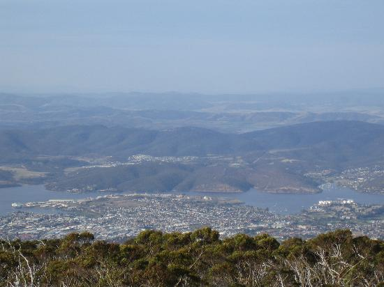 Mount Wellington: Mt Wellington looking at Hobart