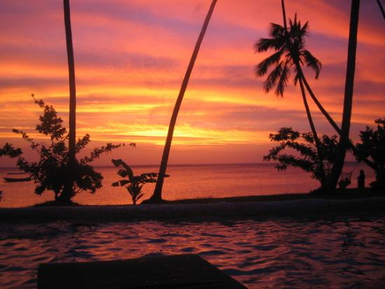 Mango Bay Resort Fiji: Awesome sunset