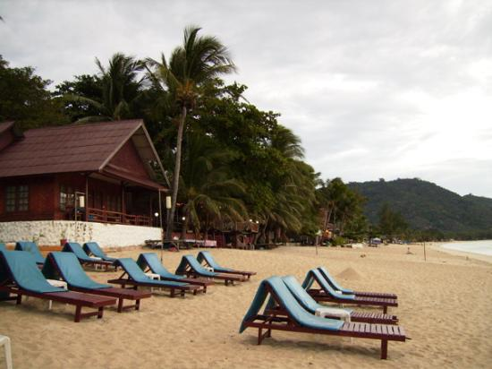 Sand Sea Resort & Spa: Beach with beachfront room in bg