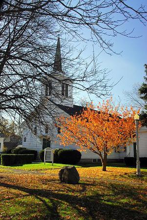 Rockport, MA : Church in Late Autumn