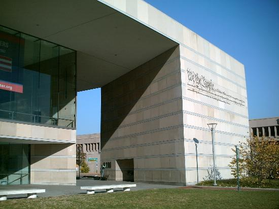 Exterior of the National Constitution Center in Philadelphia, as it faces Independence Mall.