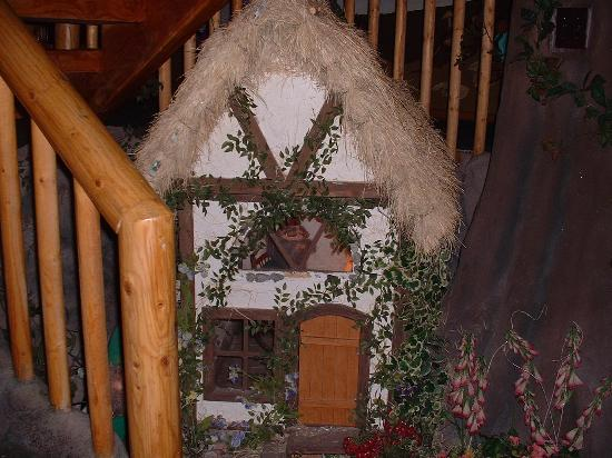 Castle Wood Theme Cottages : little gnome house nxt to the jacuzzi