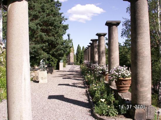 Millesgarden: The Roman columns