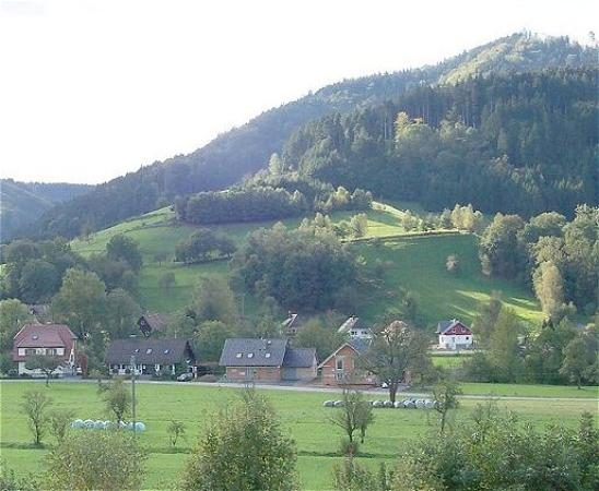 Gutach im Breisgau, Germany: View from balcony...