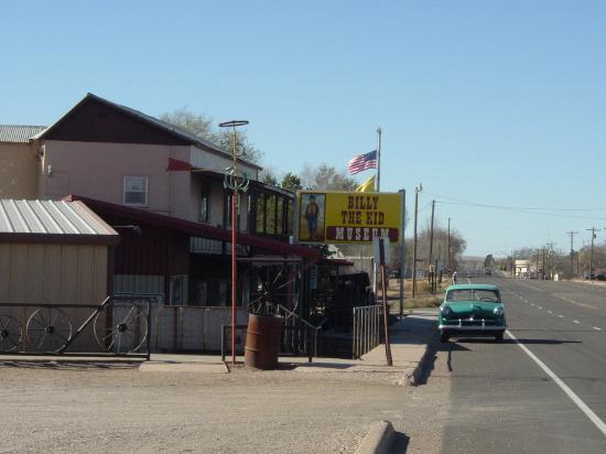 Billy the Kid Museum: As seen looking west