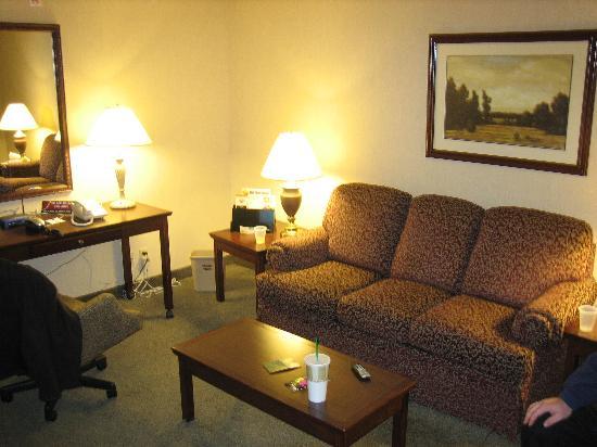 Drury Inn & Suites Detroit Troy: Room 464 Living Room Area