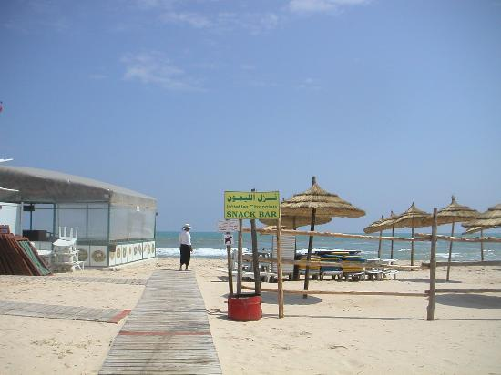 Hotel Les Citronniers: Beach of the hotel