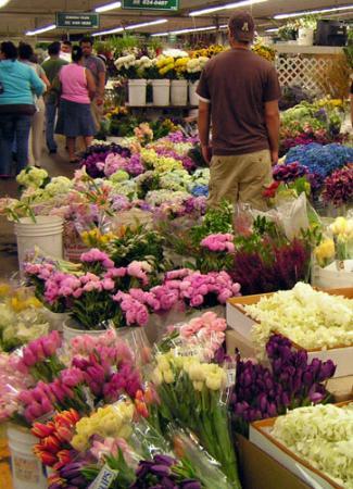 Flower Market scene