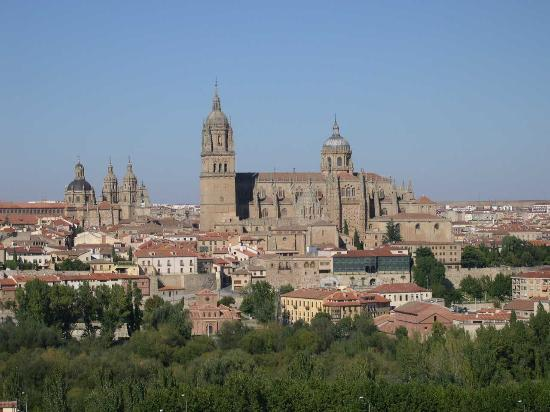 Salamanca, İspanya: View of Old Town from Parador