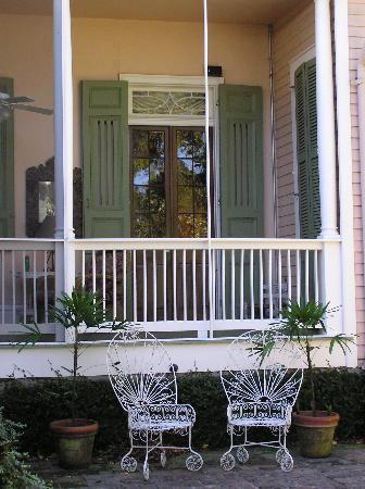 The House on Bayou Road: Main house patio